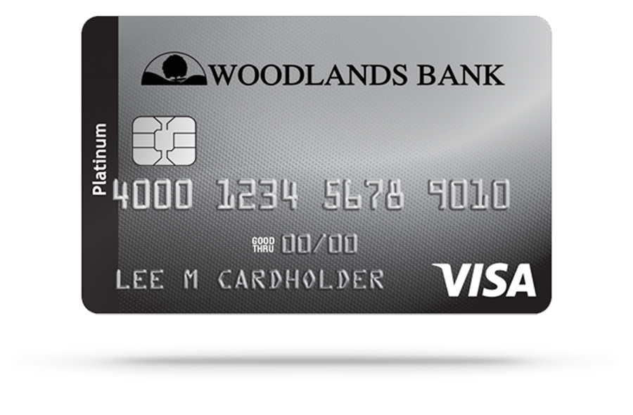 Woodlands Bank Visa Platinum Credit Card