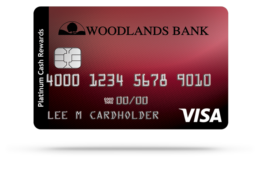 Woodlands Bank Visa Cash Rewards Platinum Credit Card