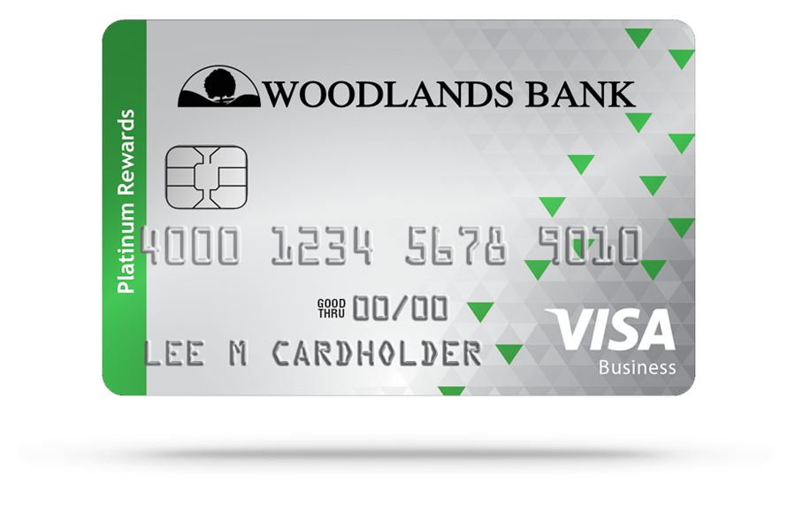 Woodlands Bank Visa Rewards Platinum Business Credit Card