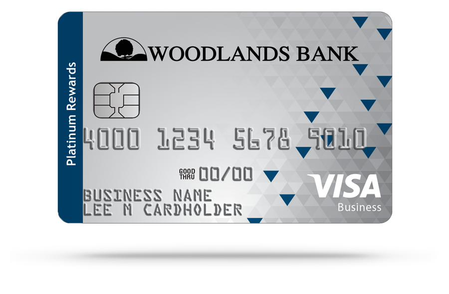 Woodlands Bank Visa Small Business Rewards Business Credit Card