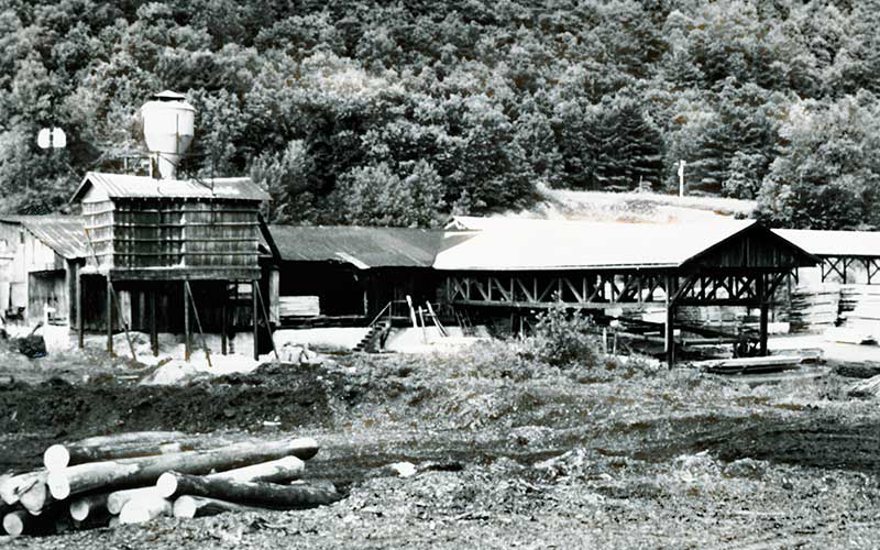 Historical photo of local Lumber Mill