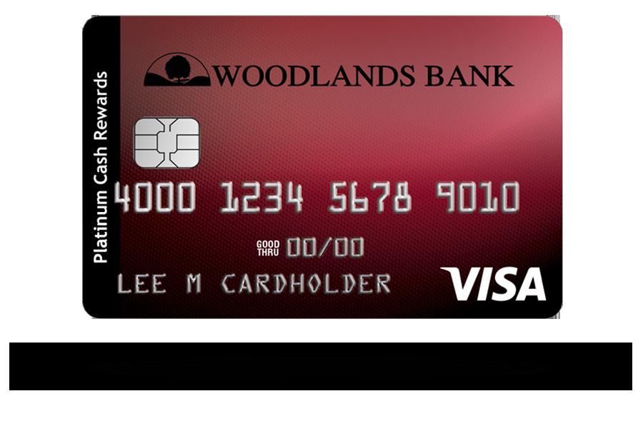 Woodlands Bank Visa Cash Rewards Platinum Credit Card
