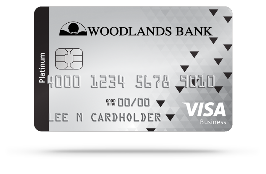 Woodlands Bank Visa Platinum Business Credit Card